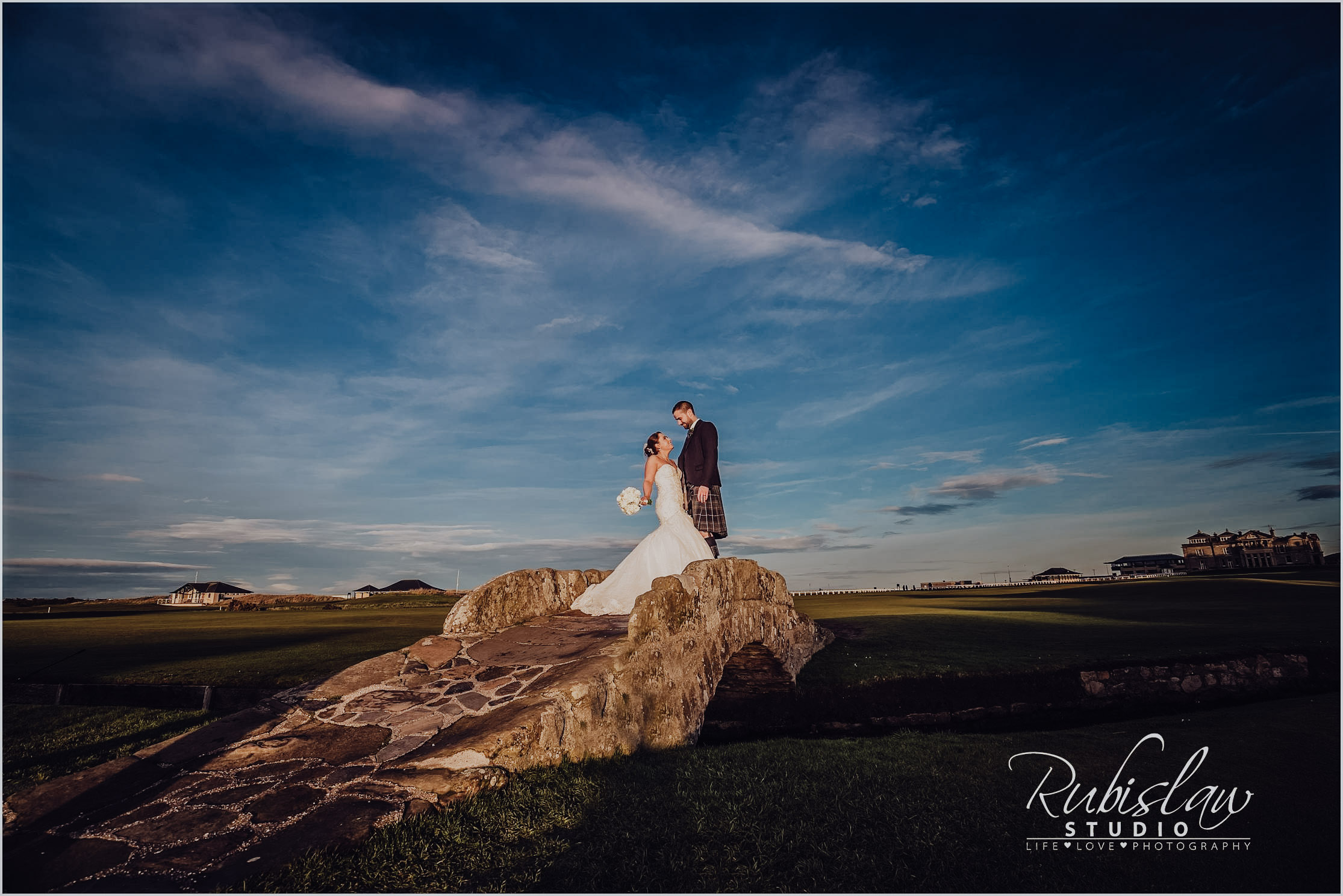 Claire and Marc at Holy Trinity Church and the Old Course Hotel, St.Andrews
