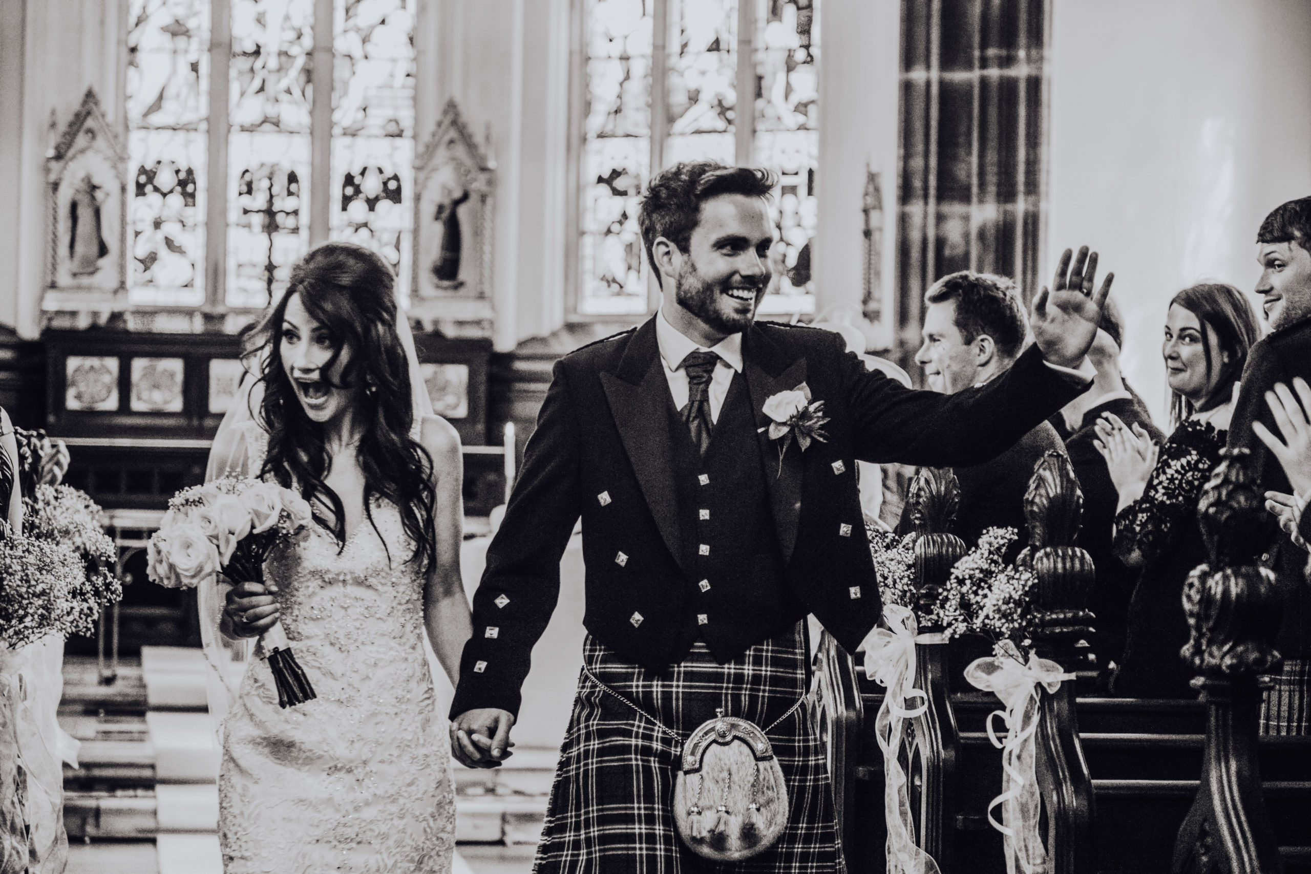 Danielle and Chris wedding at Cluny Castle