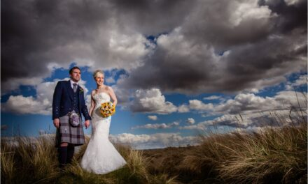 Sarah and Chris at Dornoch Cathedral